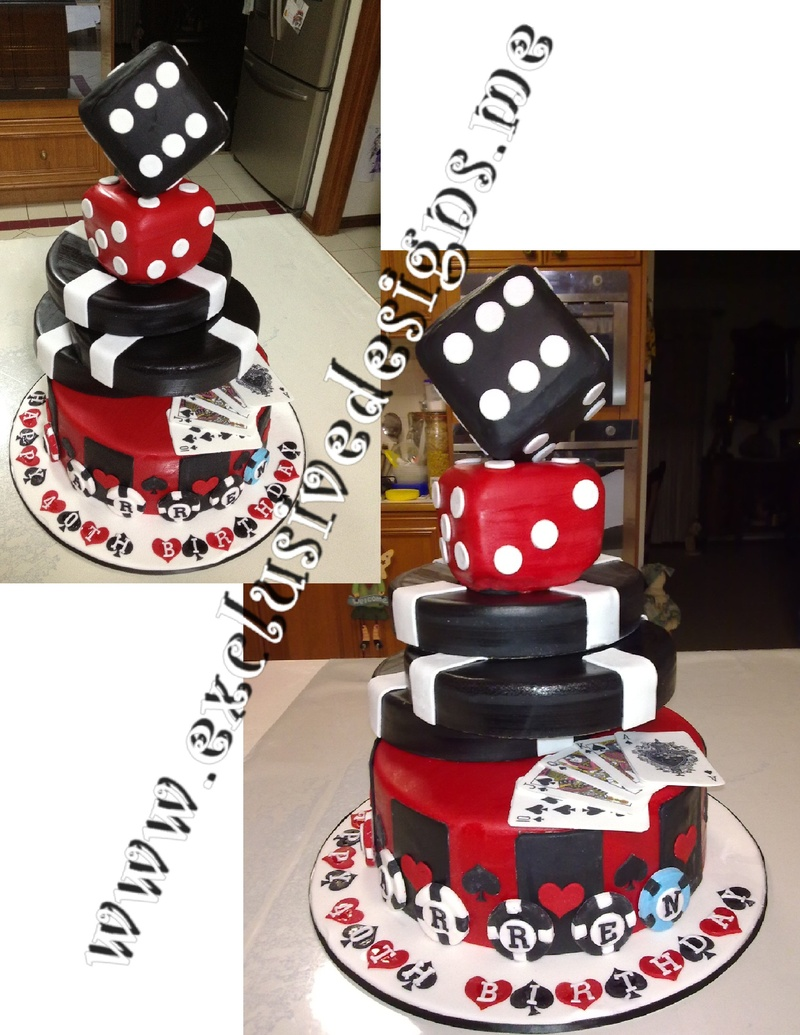Casino Themed Cake Toppers